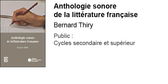 Anthologie sonore de la littérature française