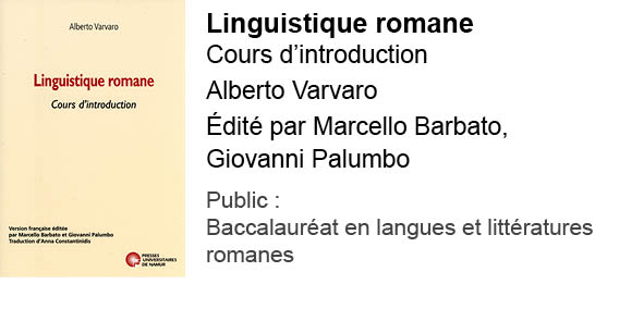 Linguistique romane. Cours d'introduction