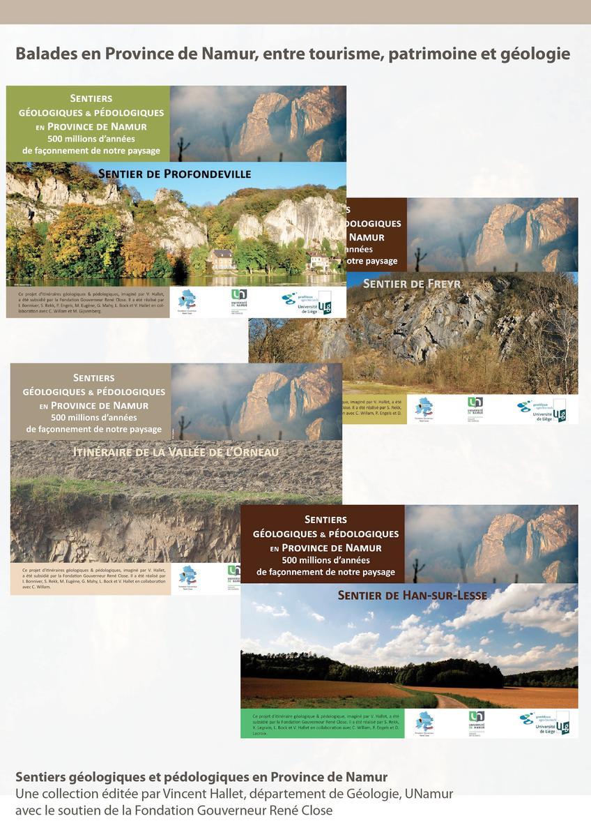 Sentiers géologiques et pédologiques en Province de Namur